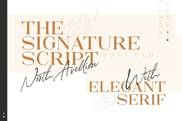 North Avellion - Script & Serif Duo in Display Fonts - product preview 3