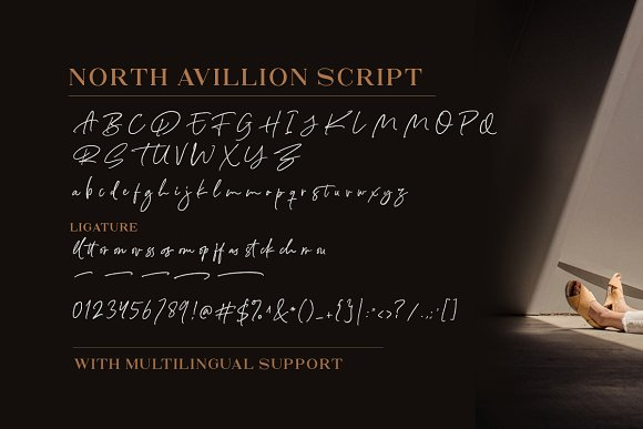 North Avellion - Script & Serif Duo in Display Fonts - product preview 9