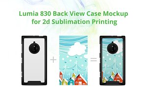 Lumia 830 2d Case Design Mock-up