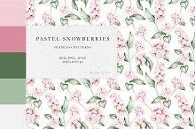 Pastel Snowberries Pattern Bundle