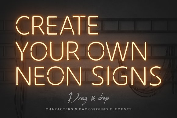 Neon alphabet kit in Objects - product preview 1