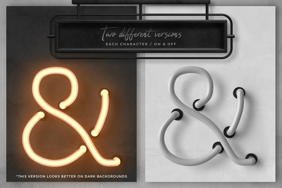 Neon alphabet kit in Objects - product preview 2