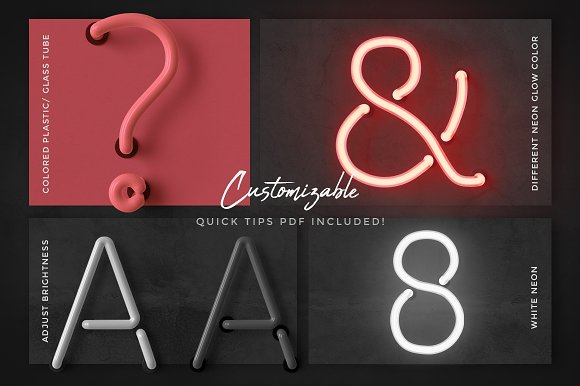 Neon alphabet kit in Objects - product preview 3