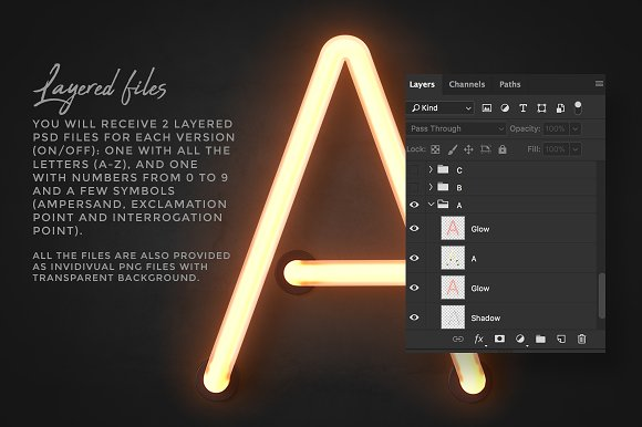 Neon alphabet kit in Objects - product preview 7