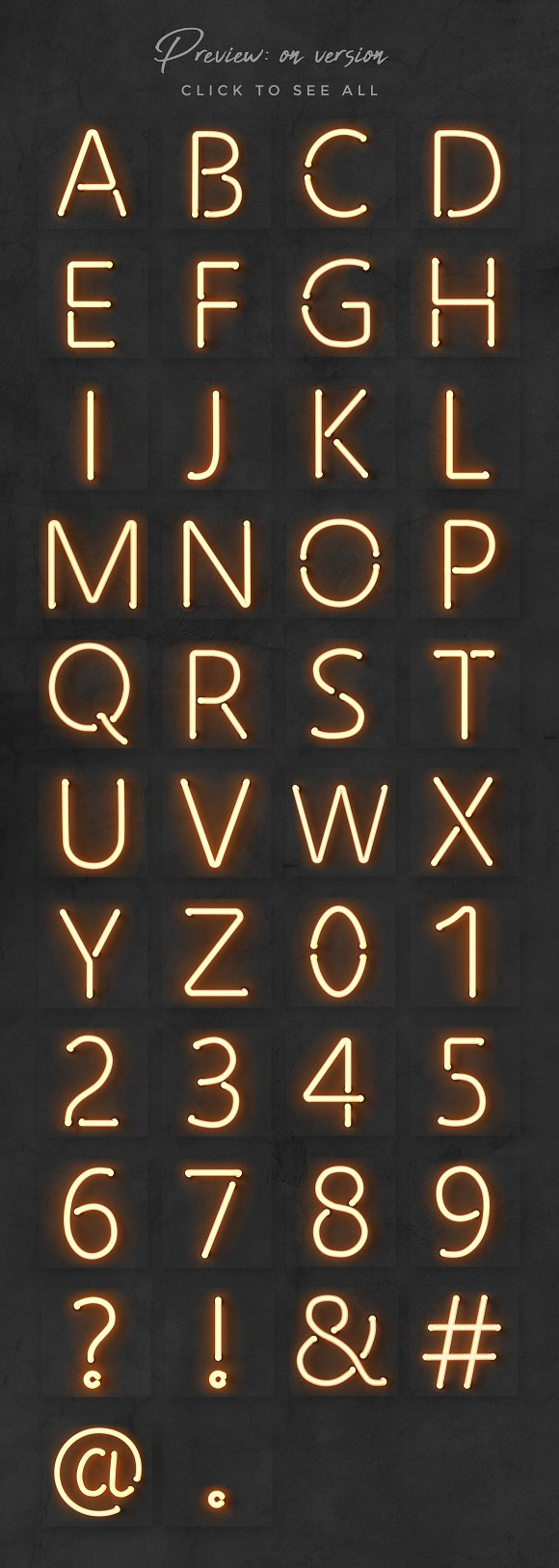 Neon alphabet kit in Objects - product preview 9
