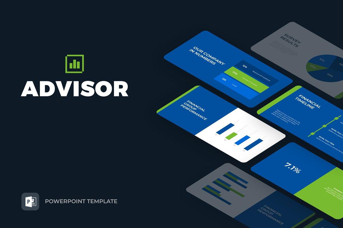 Advisor Finance Powerpoint Template Powerpoint Templates
