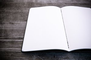 clean white notebook
