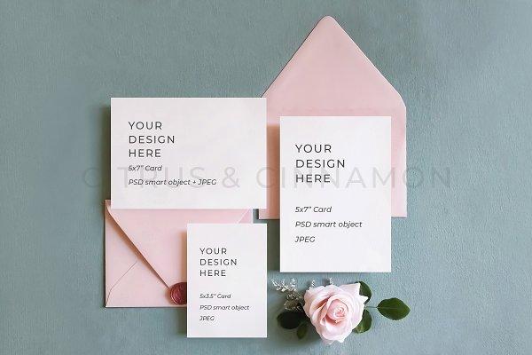 Download Wedding Stationery Mockup Bundle Creative Photoshop Templates Creative Market PSD Mockup Templates