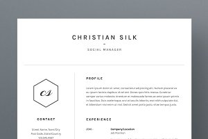 Christian Silk - Resume/CV Template