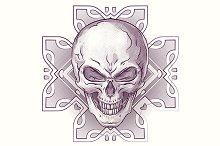 Vector skulls illustration