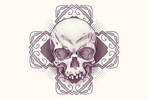 Engraving skull.