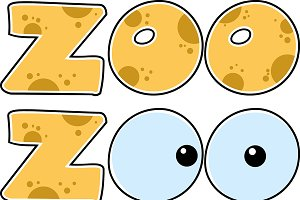 Skin Zoo Text With Eyes Collection