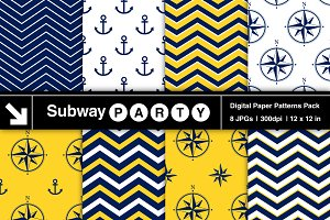 Nautical Navy & Yellow Papers v2
