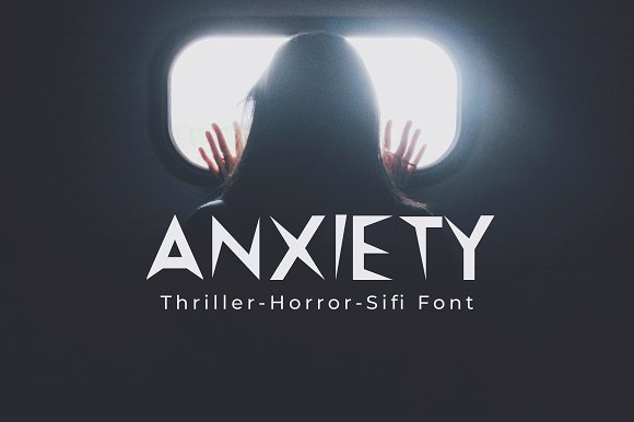 Anxiety Premium Font in Display Fonts - product preview 3