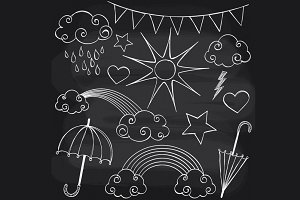 Chalkboard Weather Set