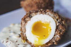 Scotch Egg with Runny Yolk