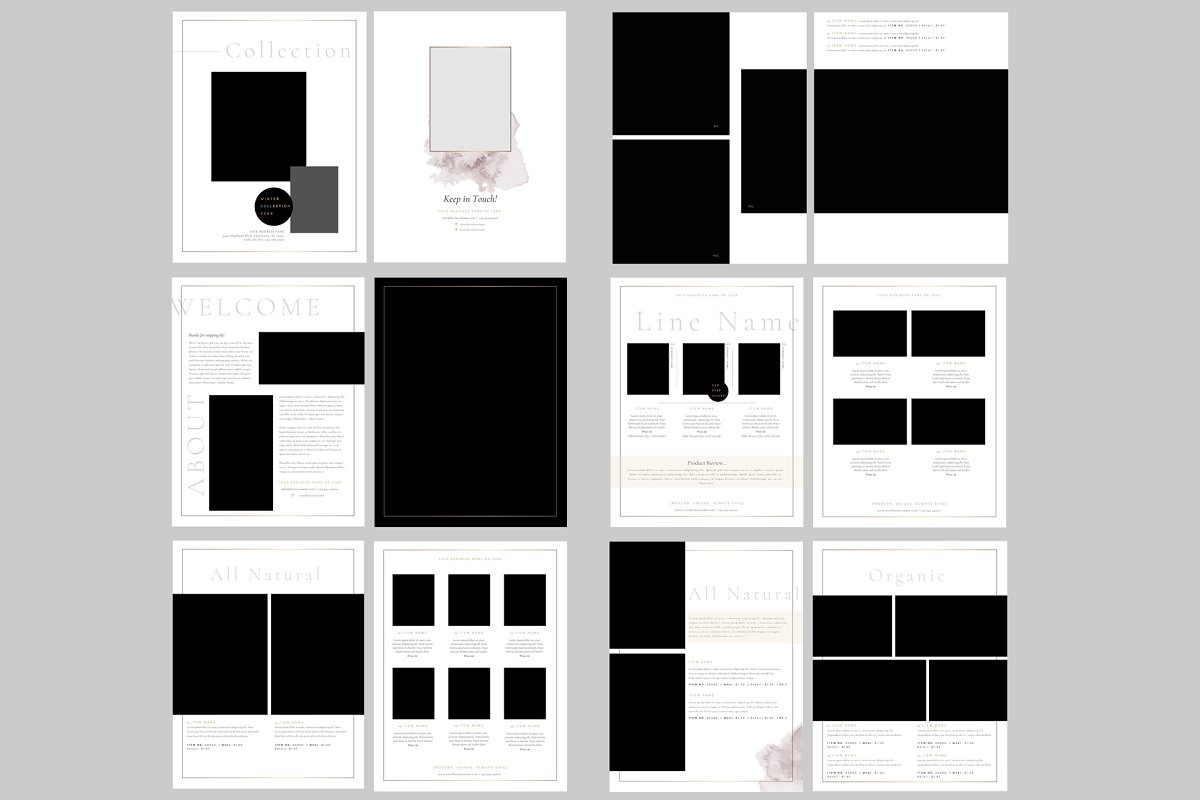 Catalog Template for Photoshop