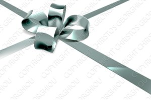 Silver Bow Ribbon Gift