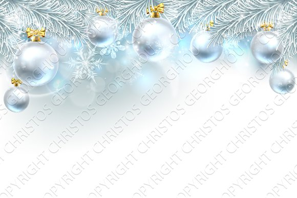Christmas Bauble Background Top Bord