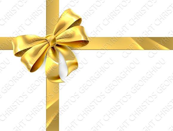 gold bow ribbon gift ribbon graphics creative market