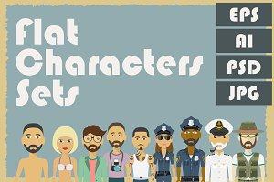 Flat characters sets.