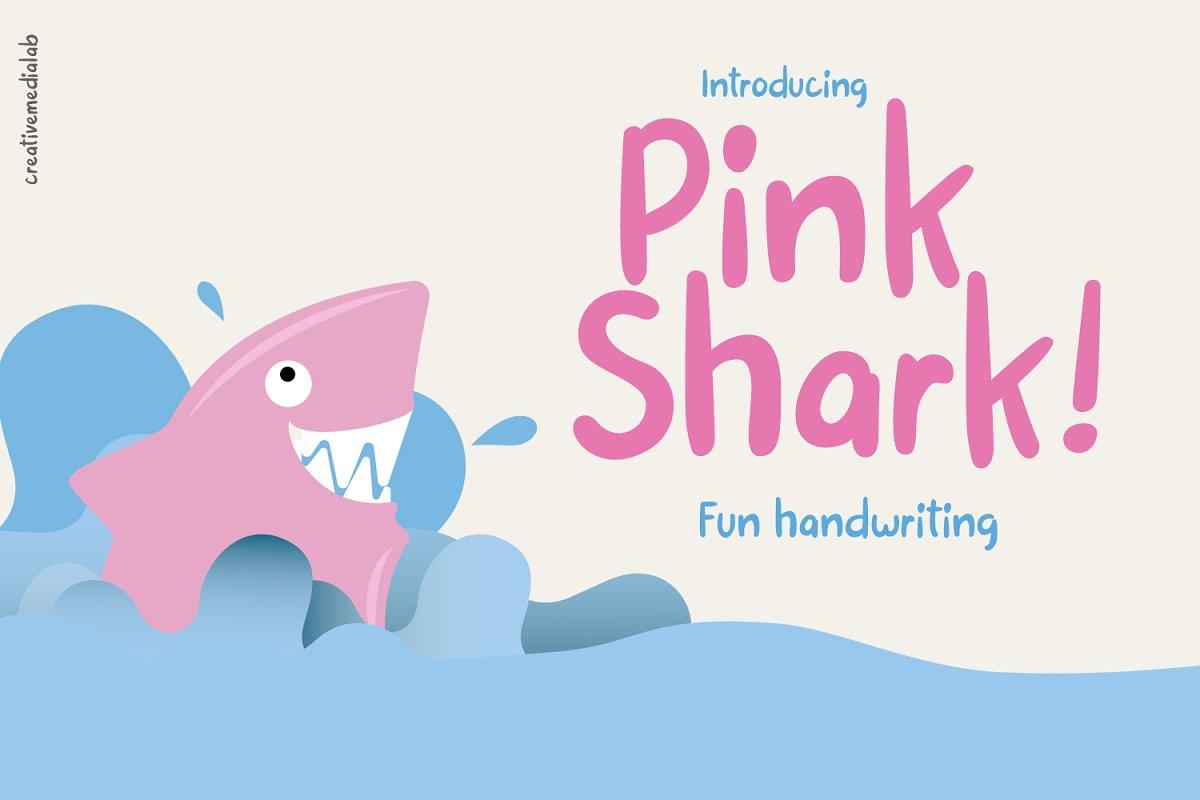 Pink Shark - Fun handwriting