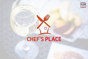 Chef's Place Logo Template