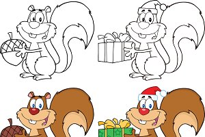 Squirrel Characters Collection - 1