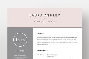 laura ashley resumecv template