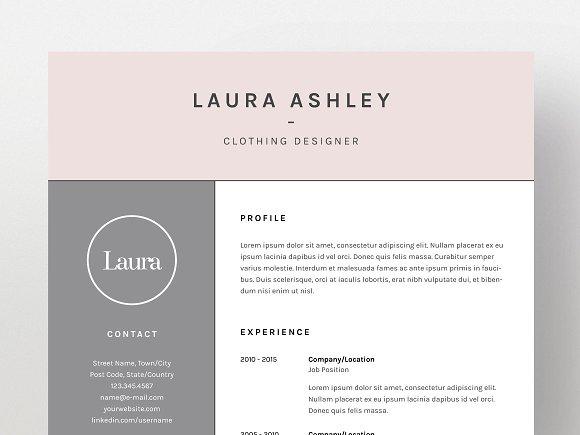 laura ashley resumecv template resume templates creative market - Resume Cv Sample