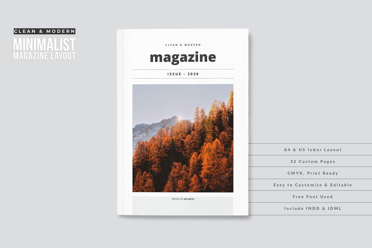 Clean & Modern Minimalist Magazine