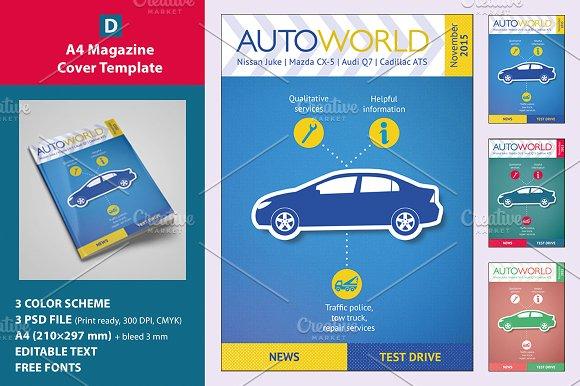 a4 magazine cover template magazine templates creative market