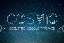 Cosmic. Doodle Typeface + Bonus