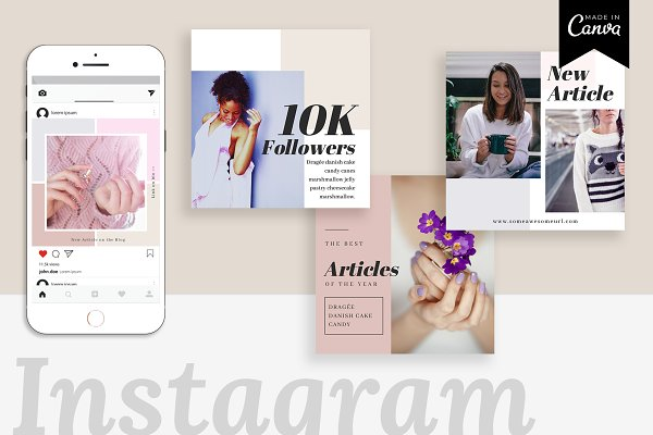Instagram Canva Template | Ivy