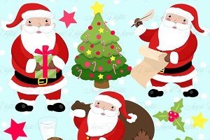 Christmas Santa  Clipart and Vectors