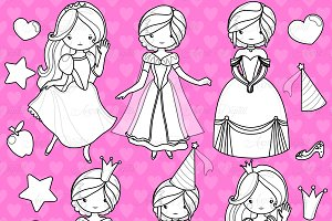 Fairytale Princess Digital Stamps