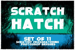 Scratch Hatch Photoshop Brushes