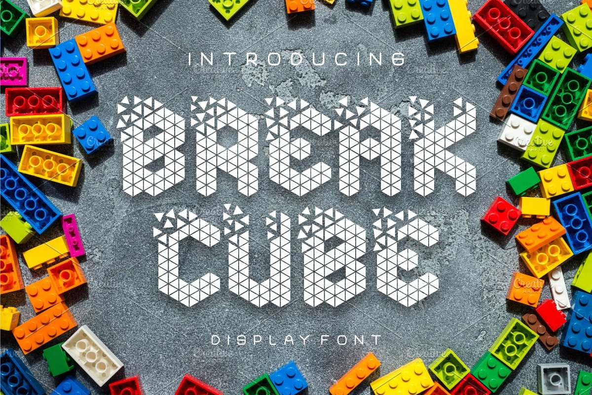 Break Cube Display Font in Display Fonts - product preview 8