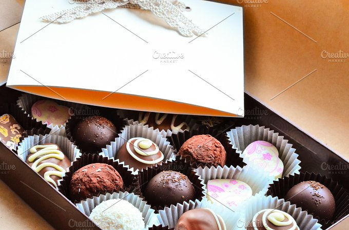 Sweet Candy in Gift Box. LIVE - Holidays