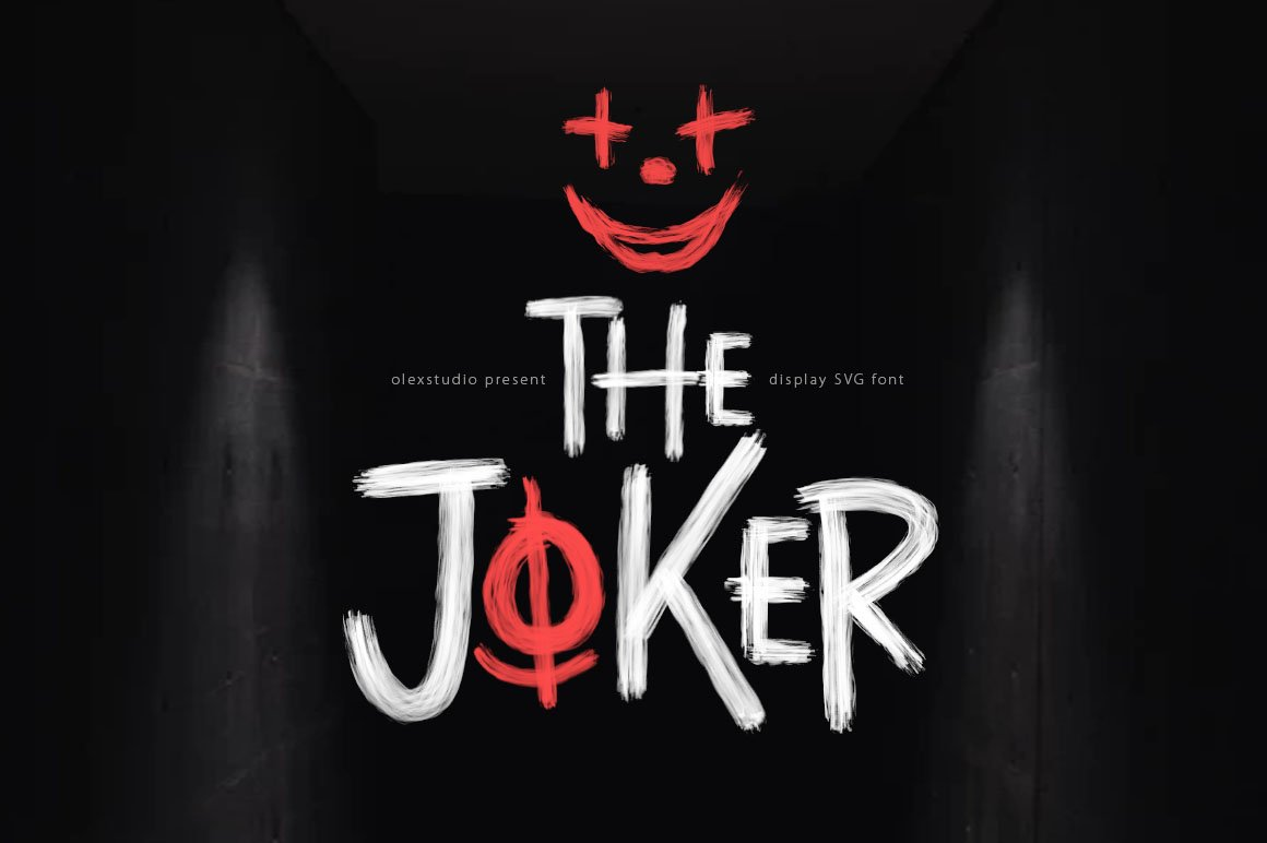 The Joker Svg Font Stunning Display Fonts Creative Market