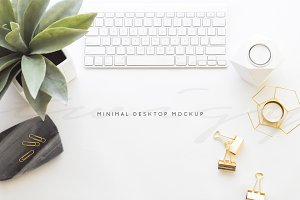 Stock Photo | Minimal Desk Mockup