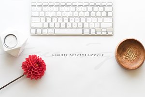SALE!Minimalist Desktop | Red Floral