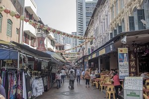 Singapore China Town Market