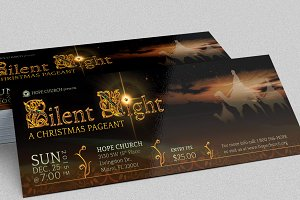 Silent Night Christmas Flyer