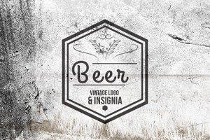 10 Beer Vintage Logo & Insignia