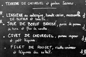 French Menu in Paris