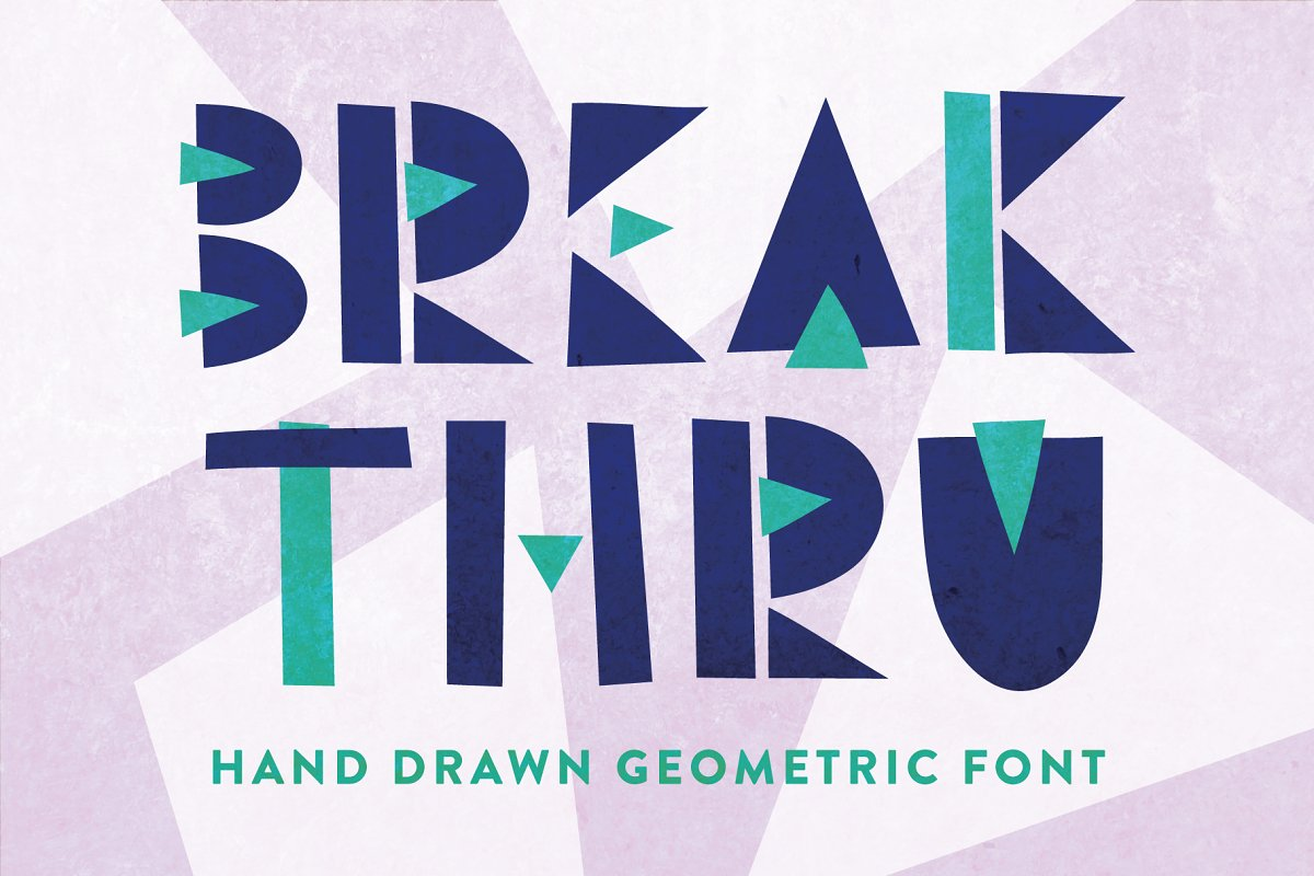 Break Thru - Geometric Font in Display Fonts - product preview 8