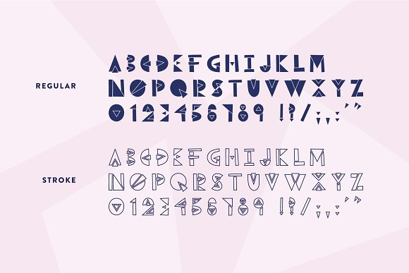 Break Thru - Geometric Font in Display Fonts - product preview 3