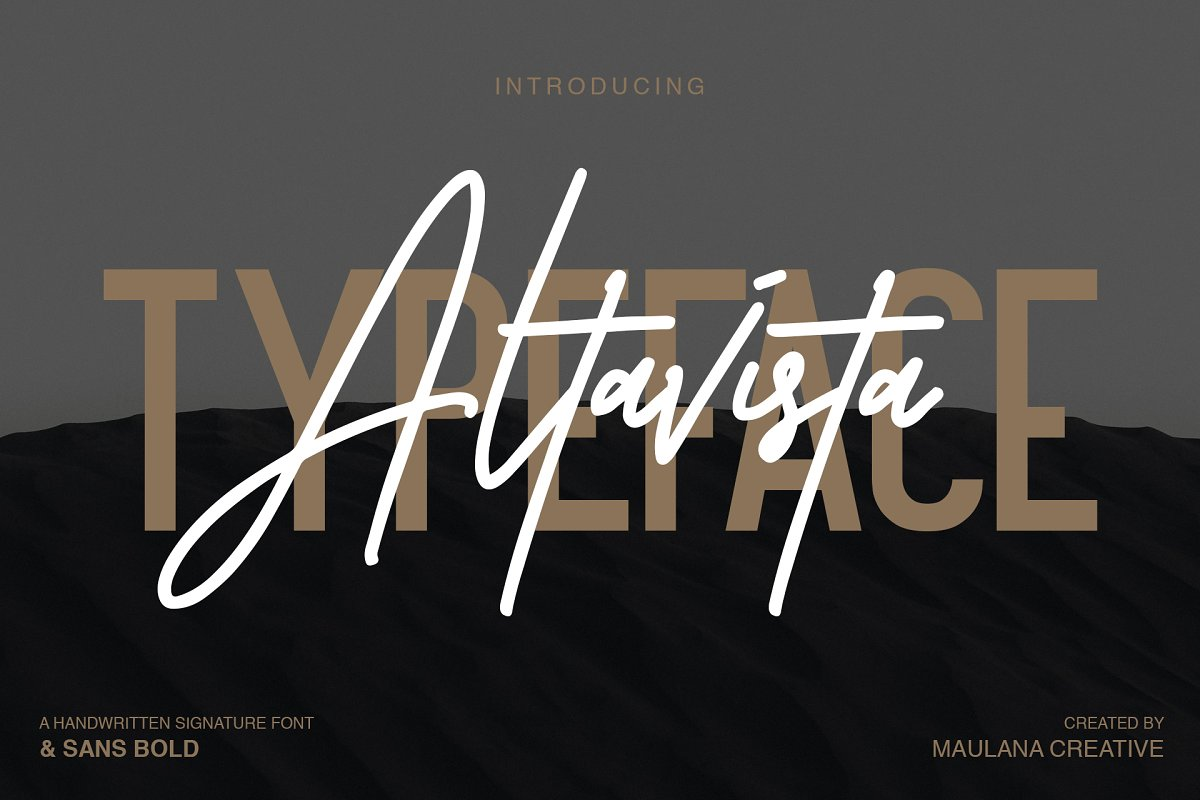 Altavista Font Duo in Display Fonts - product preview 8