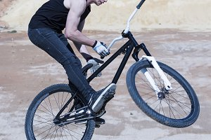 BMX biker jump
